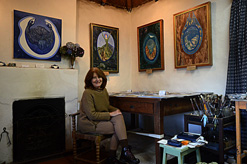 Diana in her studio