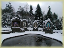 Snow in the Eco-Shrine